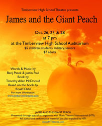James and the Giant Peach Theatre Poster